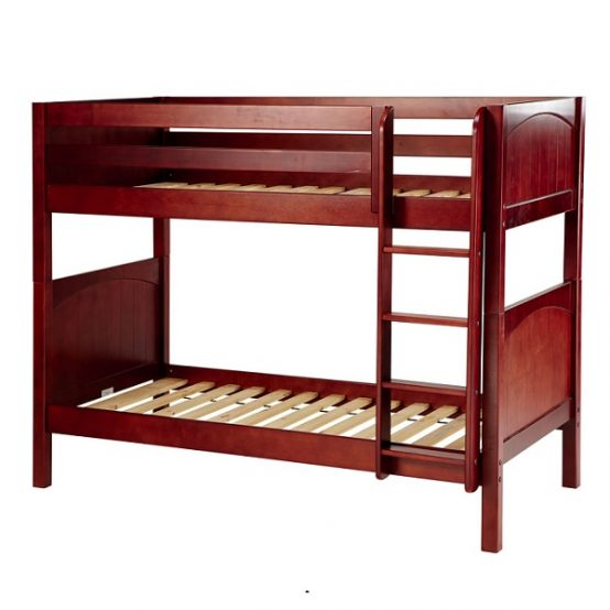 Twin Medium Wood Bunk Bed with Straight Ladder
