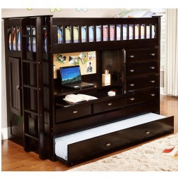 all in one loft bed with trundle