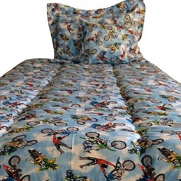 bmx motor cross bunk bed comforter
