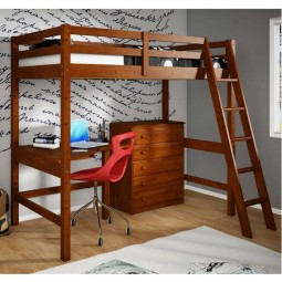 loft bed with desk and chest of drawers